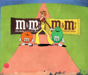 An M&M's Candy ad from the 1970's