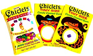 Chiclets Chewing Gum comes in many shapes and sizes