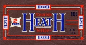 A vintage Heath Bar Advertisement from the 1960's