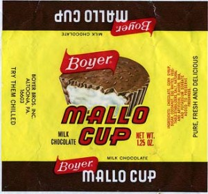 A retro Mallo Cup wrapper from the 1970's