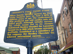 The sign from Milton Hershey's first store...