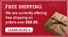 FREE SHIPPING | We are currently offering free shipping on orders over $89.95