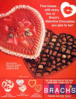 Brach&rsquo;s Valentines Candy Advertisment Circa 1967