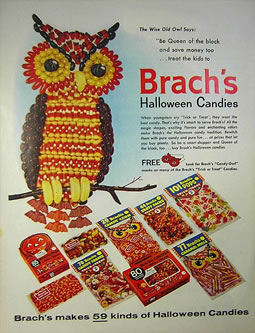 Brachs Halloween Candy Advertisment Circa 1962