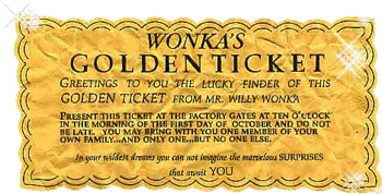 Wankas Golden Ticket