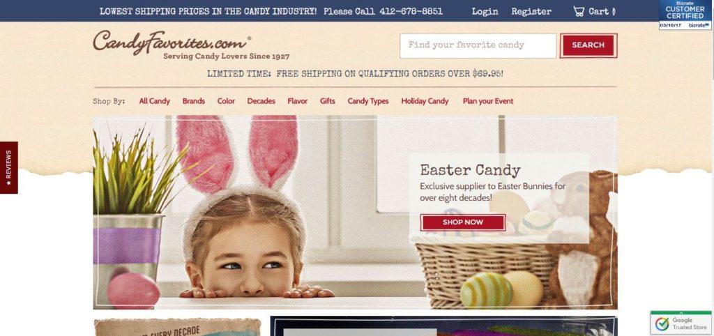 CandyFavorites.com Homepage