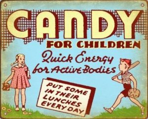 retro candy ad
