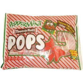 Hard to find and a true Christmas favorite  - Peppermint Tootsie Pop Candy Cane Lollipops