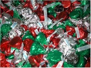 chrsitmas in july hershey kiss