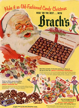 Brach's Christmas Candy Advertisement Circa 1950